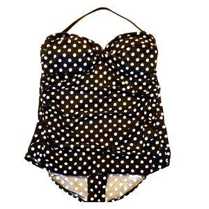 Merona Polka Dot One-Piece Retro Bathing Suit